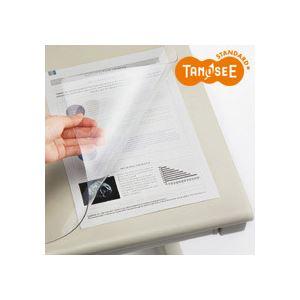 (まとめ)TANOSEE PVCデスクマット[エコノミー] 900×600mm 10枚