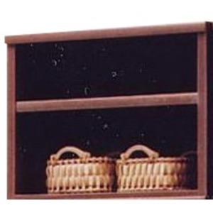 上置き(オープンラック用棚) 幅65cm 木製(天然木) 棚板付き 日本製 ブラウン 【完成品】【代引不可】