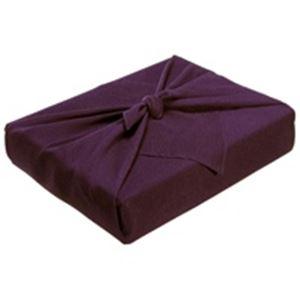 (業務用5セット) ながとや 正絹ちりめん風呂敷 ユ-022 紫無地 【×5セット】