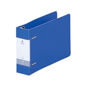 (業務用100セット) LIHITLAB D型リングファイル G2233-8 B6E 46mm 青 ×100セット