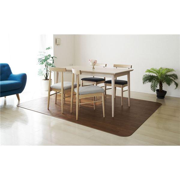 アキレス クッションフロアラグマット(床暖房対応) チョコレートブラウン 182×230cm【代引不可】