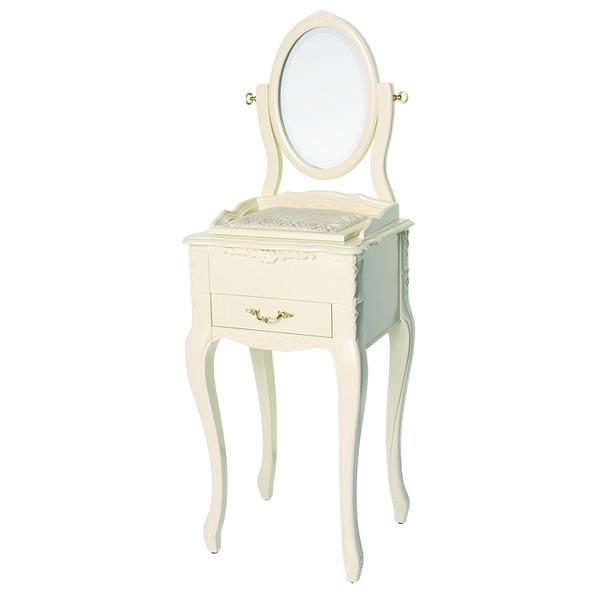 【ペット用家具】Fiore(フィオーレ) 鏡台(ドレッサー) クラシックホワイト【代引不可】