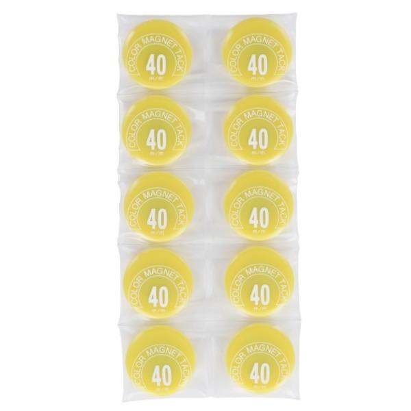 (業務用50セット) ミツヤ カラーマグネット MR-40 黄 40mm 10個 ×50セット