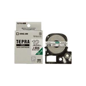 (業務用50セット) キングジム テプラ PROテープ/ラベルライター用テープ 【紙ラベルタイプ/幅:12mm】 スリット入り SP12K ホワイト(白) ×50セット
