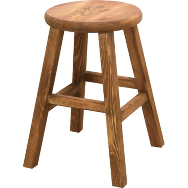 <title>木目調のシンプルな椅子 チェア 円形スツール 2脚セット 脚付きスツール 木製 パイン材 オイル仕上げ 丸型 高さ46cm ファッション通販 CFS-515</title>