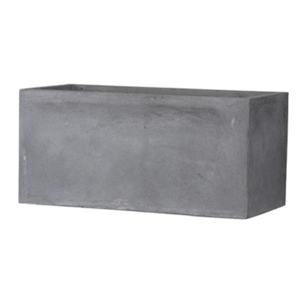 ファイバークレイ製 軽量植木鉢 バスク プランター 80cm グレー【送料無料】