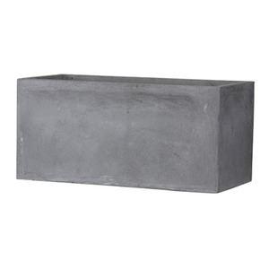 ファイバークレイ製 軽量植木鉢 バスク プランター 100cm グレー【送料無料】