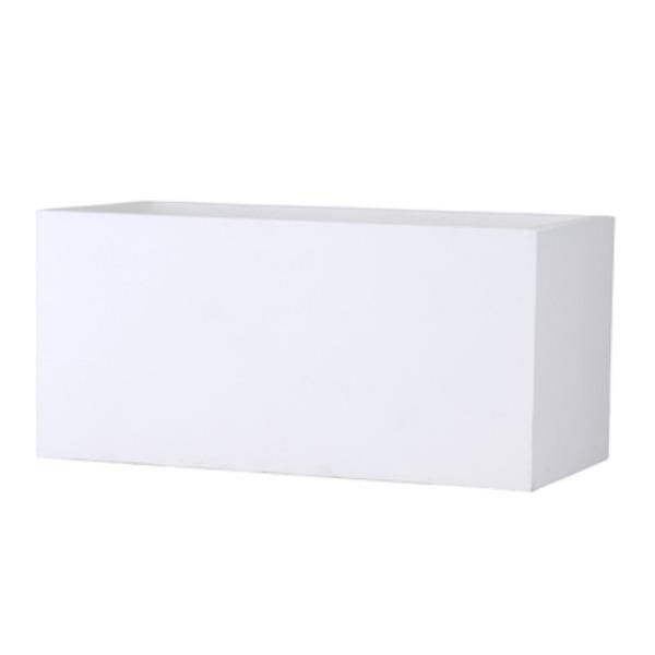 ファイバークレイ製 軽量植木鉢 バスク プランター 100cm ホワイト【送料無料】