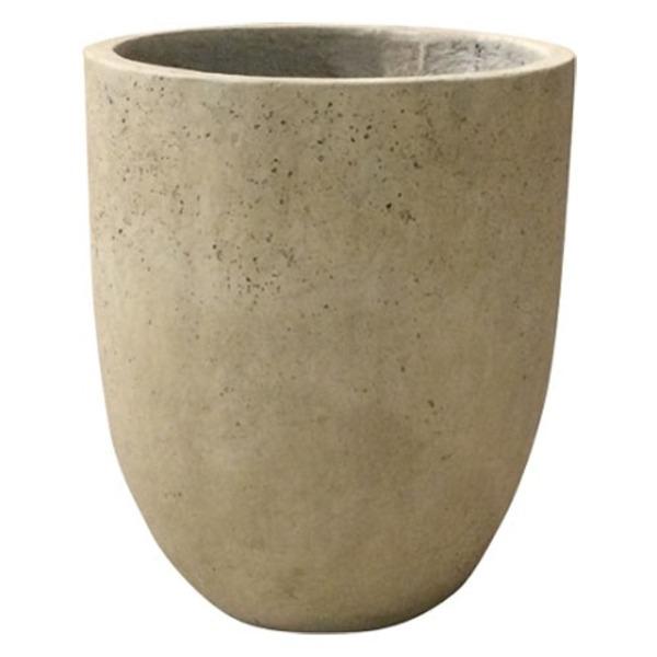 軽量コンクリート製 植木鉢/プランター 【クリーム 直径43cm】 底穴あり 『フォリオ アルトエッグ』