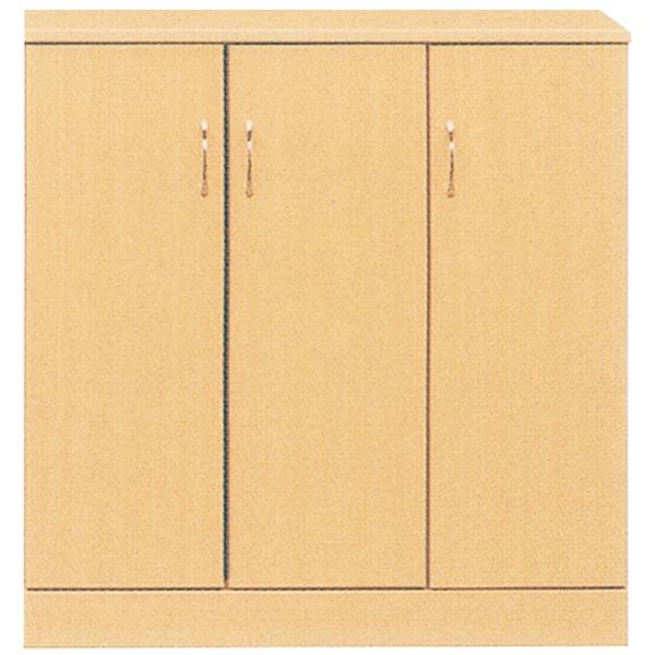ローシューズボックス(下駄箱) 幅90cm×奥行38cm×高さ92cm 日本製 ナチュラル 【完成品】【代引不可】