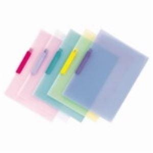 (業務用20セット) テージー クリップファイル CC-442 A4S 10冊 ブルー ×20セット