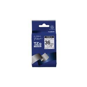 (業務用20セット) ブラザー工業 文字テープ TZe-161透明に黒文字 36mm ×20セット