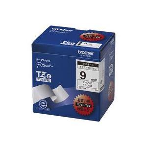 (業務用30セット) ブラザー工業 文字テープ TZe-325黒に白文字 9mm ×30セット