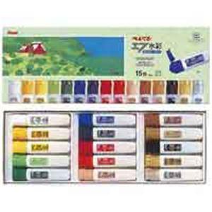 (業務用30セット) ぺんてる エフ水彩 ポリチューブ WFC1-15 15色セット ×30セット