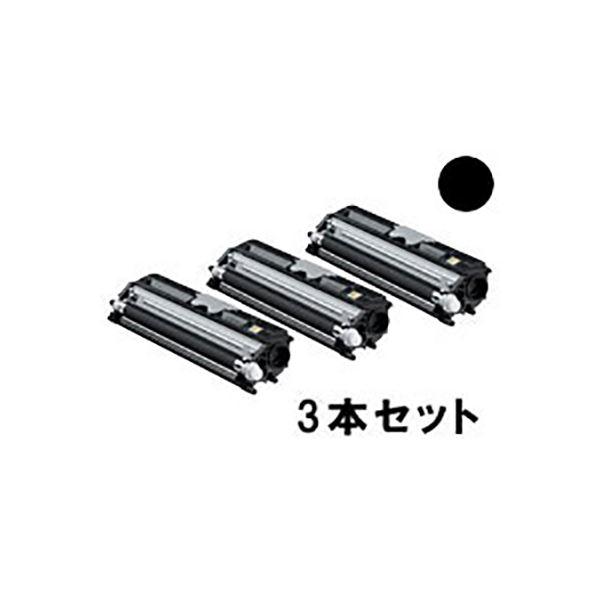 (業務用3セット)【純正品】 KONICAMINOLTA コニカミノルタ インクカートリッジ/トナーカートリッジ 【TVP1600K BK ブラック】 バリューパック【送料無料】