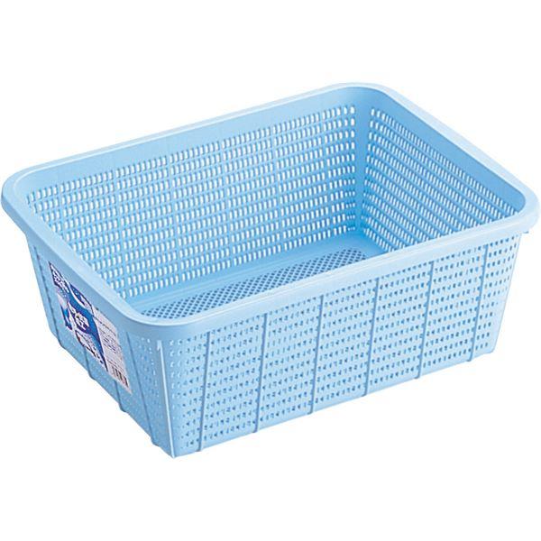 【28セット】 キッチンバスケット/キッチン用品 【DMサイズ】 ブルー 材質:PP メッシュ形状 『HOME&HOME』【代引不可】