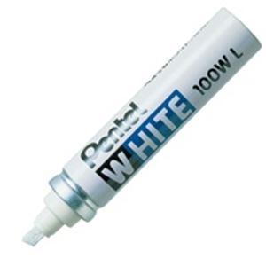 (業務用100セット) ぺんてる 油性マーカー ホワイト X100W-LD 極太 ×100セット
