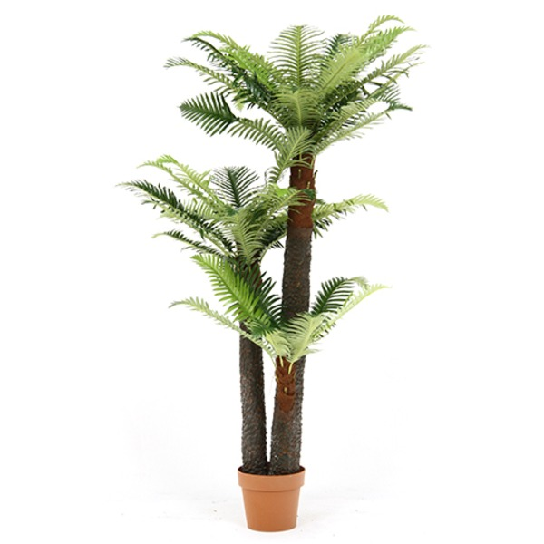 観葉植物/フェイクグリーン 【シダ 43】 7号鉢対応 幅90cm 〔リビング ガーデニング〕【代引不可】