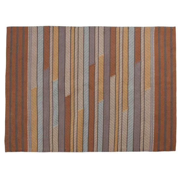 ラグマット/絨毯 【190cm×130cm】 長方形 コットン製 裏面:スベリ止め加工 TTR-111A