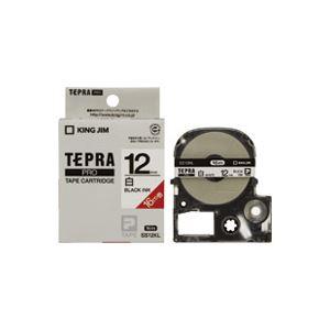 (業務用30セット) キングジム テプラ PROテープ/ラベルライター用テープ 【12mm】 ロングタイプ SS12KL ホワイト(白) ×30セット