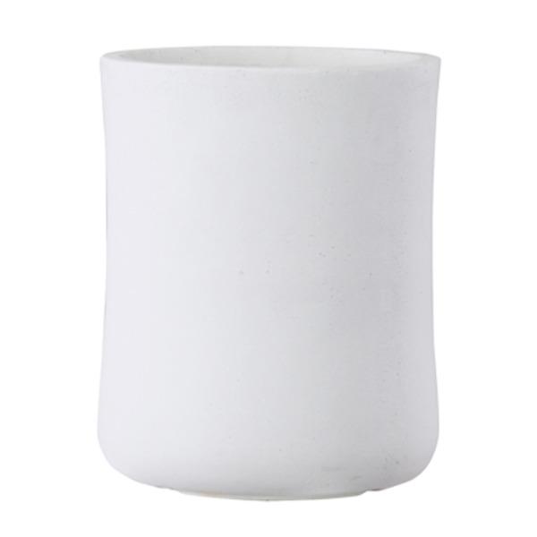 ファイバークレイ製 軽量 大型植木鉢 バスク ミドル 37cm ホワイト