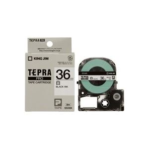 (業務用20セット) キングジム テプラPROテープ SS36K 白に黒文字 36mm ×20セット