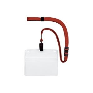 (業務用20セット) オープン工業 吊下げ名札クリップ ソフト横特大 NL-21-RD ×20セット