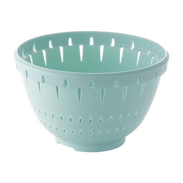【60セット】 コランダー/水切りざる 【Lサイズ ブルーグリーン】 材質:PP 『リベラリスタ』【代引不可】