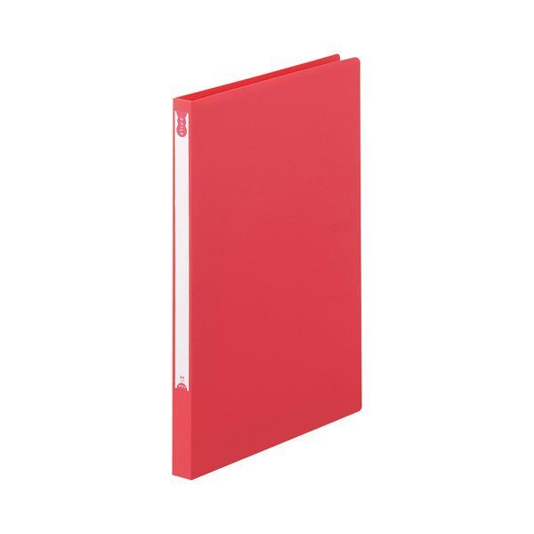 (まとめ) TANOSEE Zファイル(PP表紙) A4タテ 100枚収容 背幅20mm レッド 1セット(10冊) 【×5セット】