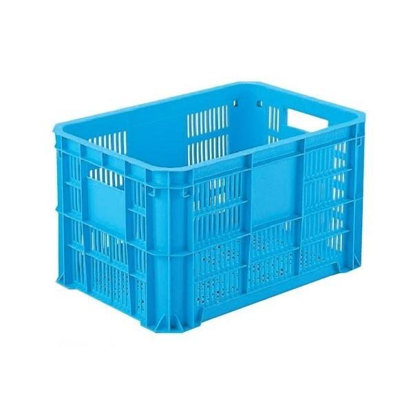 【6個セット】 リステナー/網目コンテナボックス 【MB-20F】 ブルー メッシュ構造 〔みかん 果物 野菜等収穫 保管 保存 物流〕【代引不可】