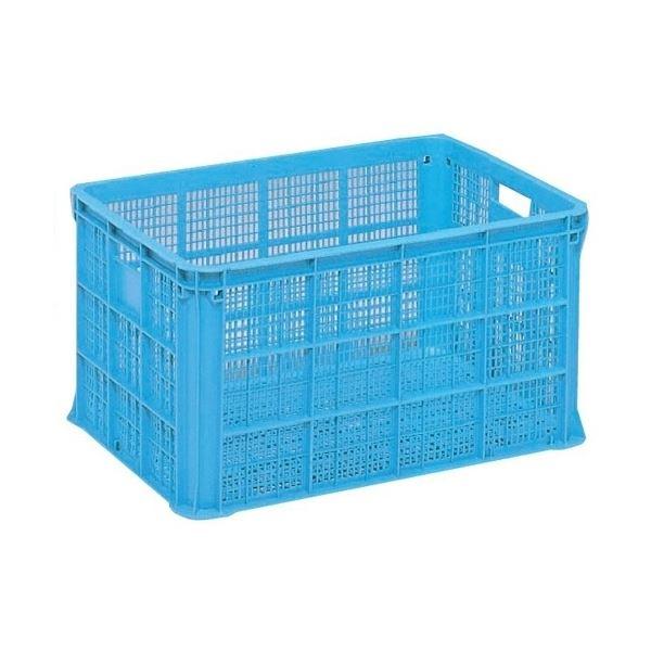 【3個セット】 リステナー/網目コンテナボックス 【MB-150】 ブルー メッシュ構造 〔みかん 果物 野菜等収穫 保管 保存 物流〕【代引不可】