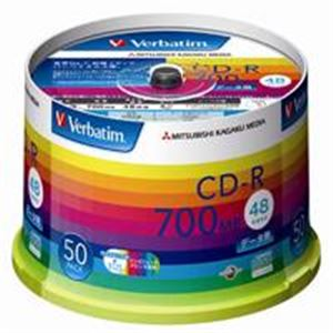 (業務用10セット) 三菱化学メディア CD-R <700MB> SR80SP50V1 50枚 ×10セット
