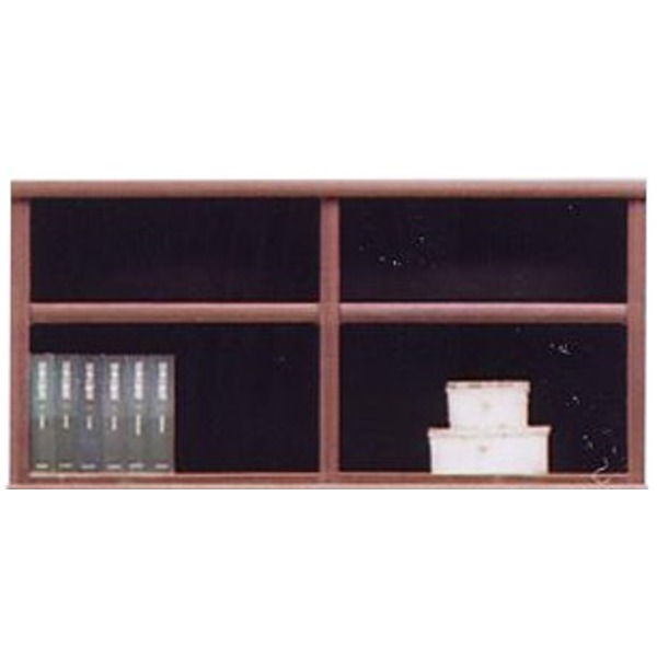 上置き(オープンラック用棚) 幅97cm 木製(天然木) 棚板付き 日本製 ブラウン 【完成品】【代引不可】