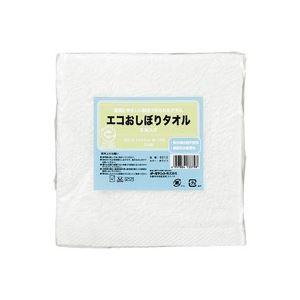 (業務用30セット) オーミケンシ エコおしぼりタオル5枚セット ホワイト9512 ×30セット