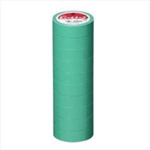 (業務用50セット) ヤマト ビニールテープ NO200-19 19mm*10m 緑 10巻 ×50セット