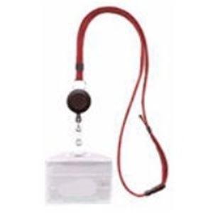 (業務用100セット) 西敬 リールクリップ名札ID用 MLE-R346R 赤 ×100セット