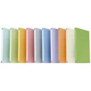 (業務用5セット) プラス フラットファイル 紙バインダー 2穴 021N A4S オレンジ100冊 【×5セット】