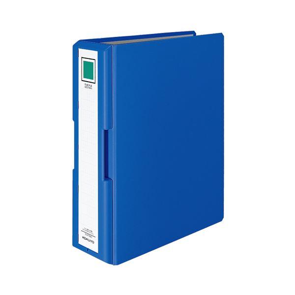 (まとめ) コクヨ 取っ手付きチューブファイル(エコツイン) A4タテ 800枚収容 背幅95mm 青 フ-UT1680B 1冊 【×8セット】