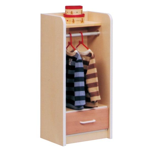 キッズロッカー(衣類収納/子供部屋家具) 木製(天然木) 幅40cm×奥行34cm 引き出し収納付き 日本製 ナチュラル 【完成品】【代引不可】