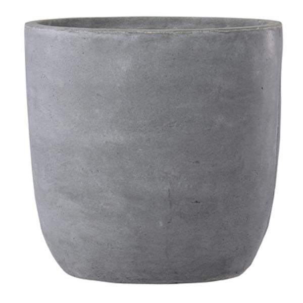 ファイバークレイ製 軽量 大型植木鉢 バスク ラウンド 51cm グレー【送料無料】