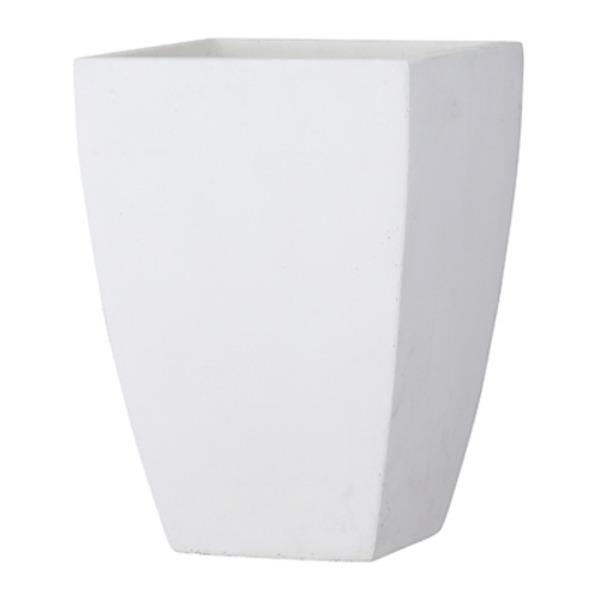 ファイバークレイ製 軽量 大型植木鉢 バスク スクエアー 44cm ホワイト