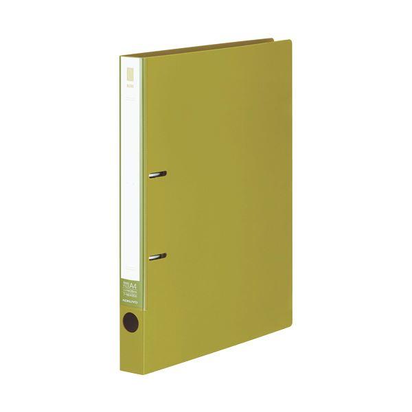 (まとめ) コクヨ リングファイル(NEOS)A4タテ 2穴 220枚収容 背幅33mm ライトオリーブ フ-NE430G 1冊 【×30セット】