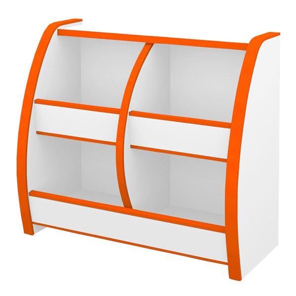 知育家具 EVAキッズシリーズ おもちゃばこ 幅65.3cm オレンジ 【完成品】【代引不可】