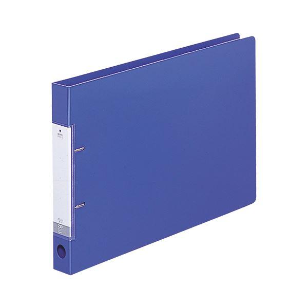 (まとめ) リヒトラブ リクエスト D型リングファイル B4ヨコ 2穴 230枚収容 背幅34mm 青 G2227-8 1冊 【×30セット】