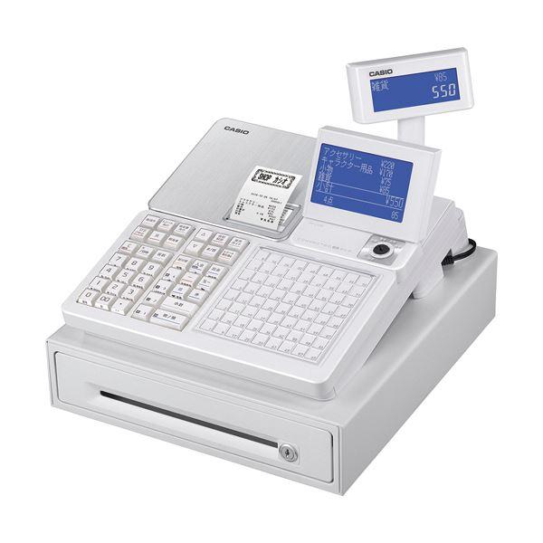 1台 電子レジスター カシオ ホワイトSR-C550-4SWE