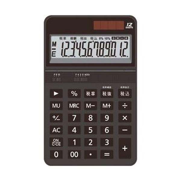 (まとめ)AURORA 中型電卓 12桁卓上タイプ ブラック DT700TXK 1セット(3台)【×5セット】