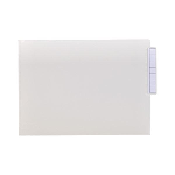 (まとめ) リヒトラブ カルテフォルダーシングルポケット A4ヨコ 見出し紙付 乳白 HK708 1箱(50枚) 【×5セット】