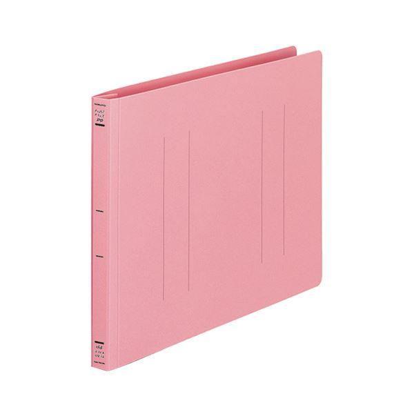 (まとめ) コクヨ フラットファイル(PP) A4ヨコ 150枚収容 背幅20mm ピンク フ-H15P 1セット(10冊) 【×10セット】