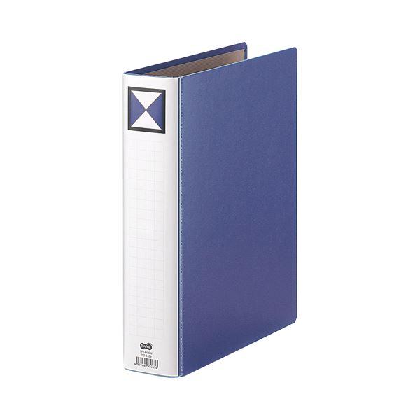 (まとめ) TANOSEE 両開きパイプ式ファイル A4タテ 500枚収容 背幅66mm 青 1冊 【×30セット】