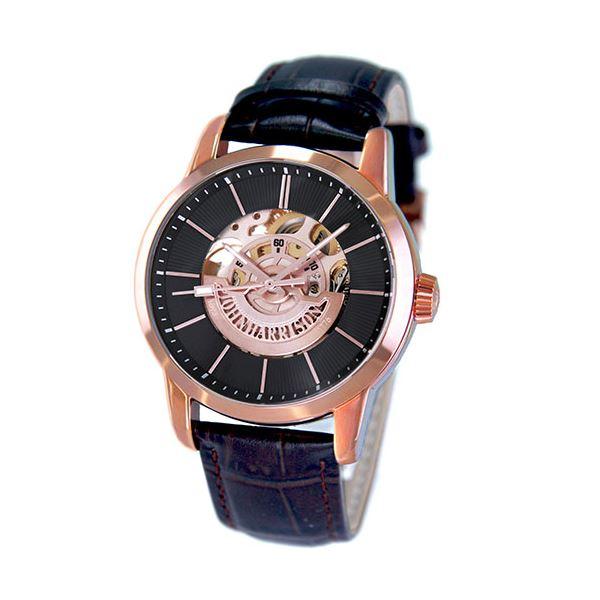 印象のデザイン J.HARRISON フロントローター 自動巻き スケルトン時計 ピンクゴールド JH-1946PB, ドールハウス Morefun d36903f3